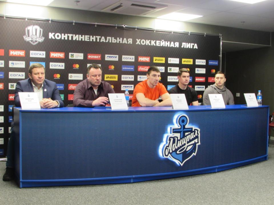 Нового тренера в ХК «Адмирал» назовут в конце марта