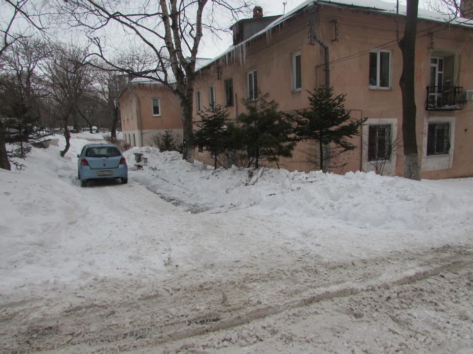 Убирают ли придомовые территории УК Владивостока?