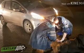 Пьяный пешеход попал под колеса автомобиля во Владивостоке