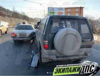 Во Владивостоке произошло ДТП из-за солнца