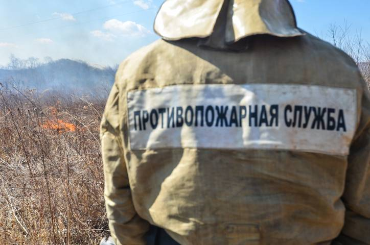 Шкотовский район Приморья полыхал синим пламенем