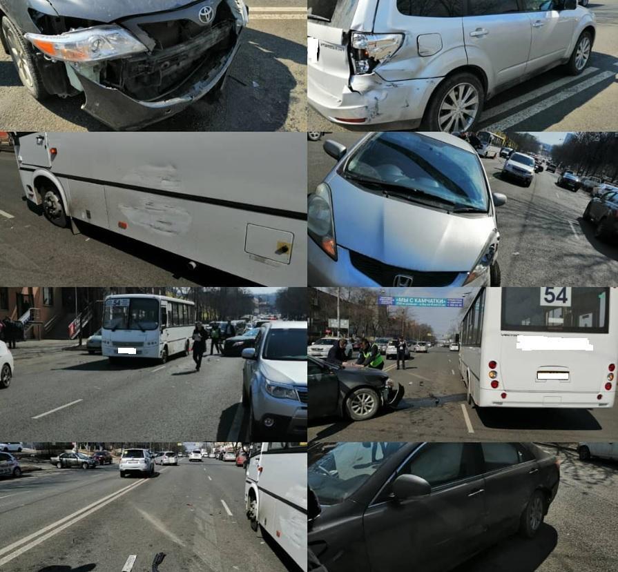 Во Владивостоке произошло ДТП с участием автобуса №54