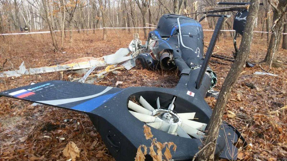 В Приморье упал вертолет