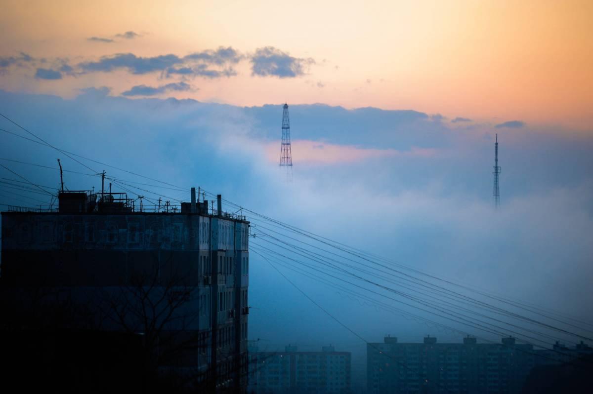 Владивосток превратился в город туманов