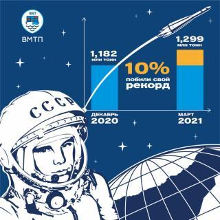 Фото: пресс-служба ВМТП   Космические темпы развития