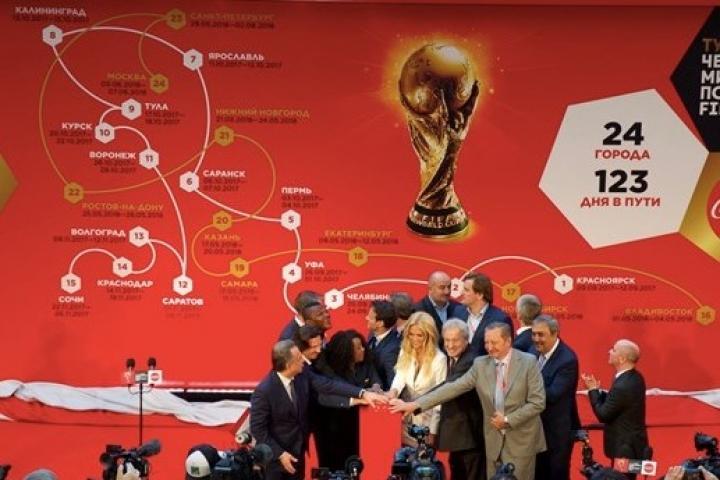 Владивосток станет первым городом в РФ, куда доставят кубок чемпионатамира по футболу