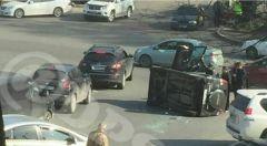 Во Владивостоке перевернулась машина, в которой находился ребенок