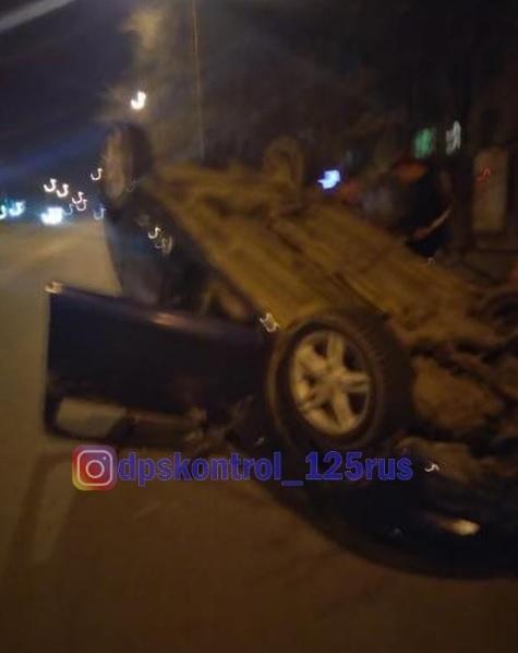 «Колесами в небо»: ДТП с участием пьяного водителя произошло в Приморье