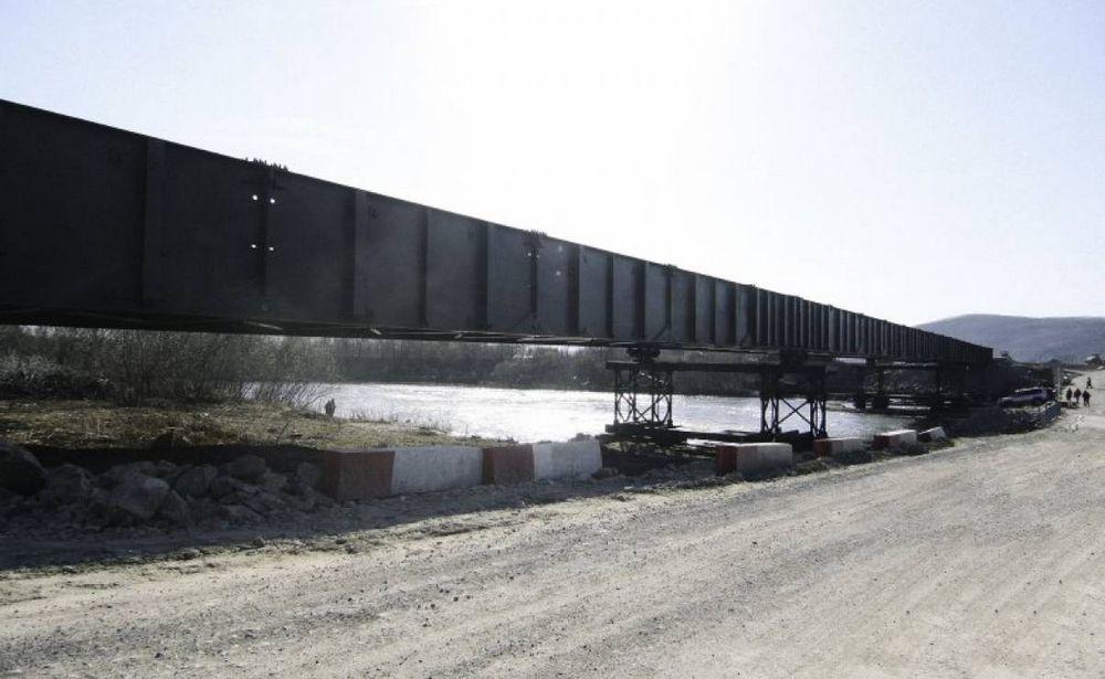 Новый мост через реку Литовка почти готов
