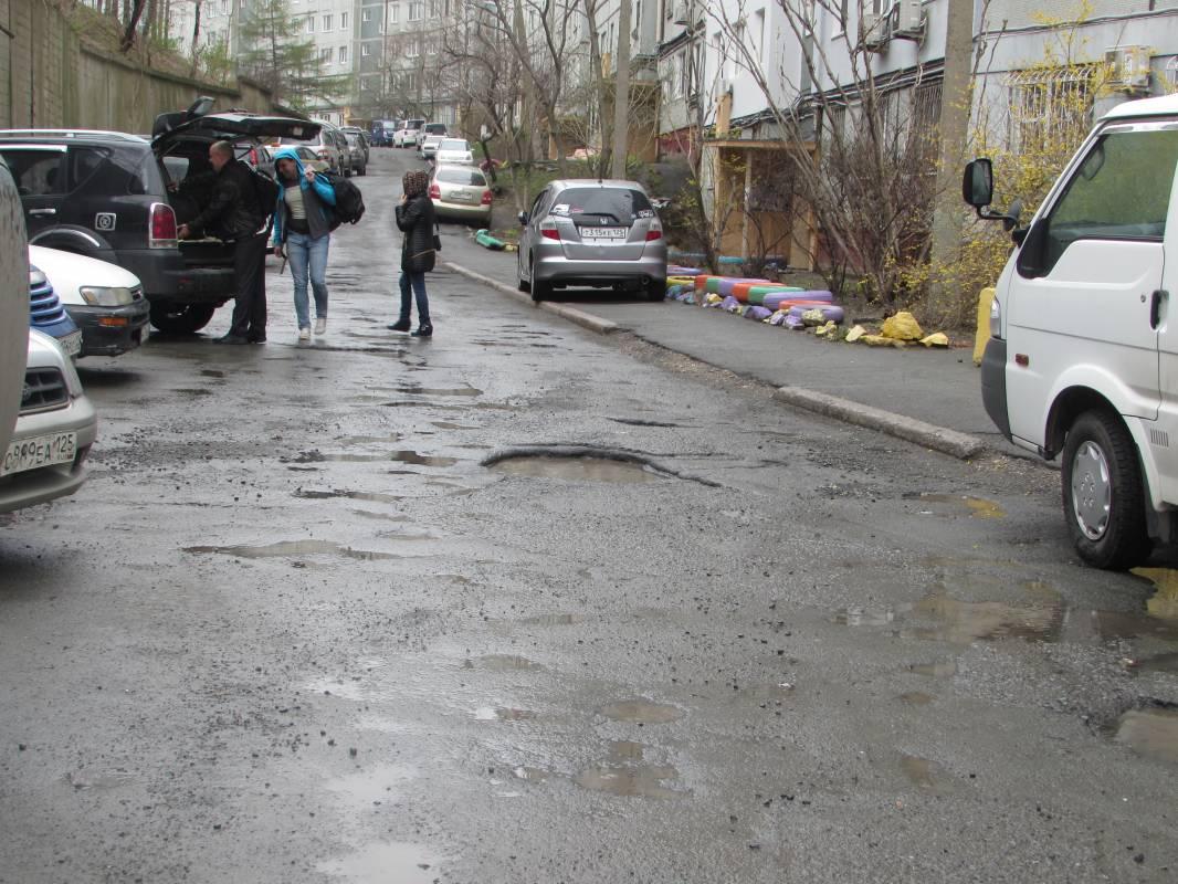 Дороги Владивостока размывает дождями