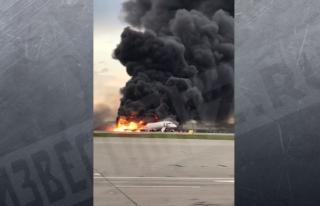 Фото: кадр из видео   Видео: страшная авиакатастрофа в Шереметьево, есть погибшие