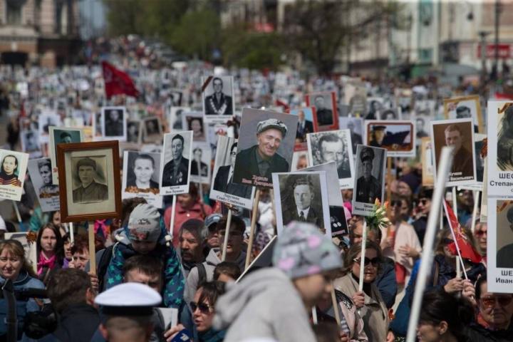 Вакции «Бессмертный полк» в Российской Федерации приняли участие около 8 млн человек