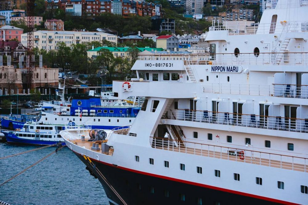 Во Владивосток пришел круизный лайнер