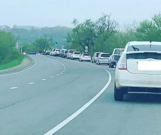 Фото: скриншот dpscontrol   Жесткие пробки в районе аварийного моста АртемГРЭС растянулись на километры