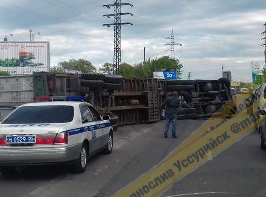Страшное ДТП запечатлел видеорегистратор в Приморье
