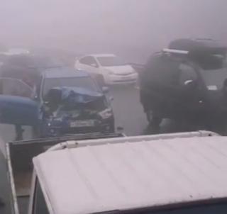 Фото: скриншот dps_mesto | В эти минуты: массовое ДТП на объездной во Владивостоке спровоцировало серьезные пробки