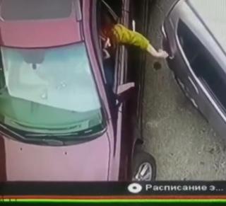Фото: скрин из @dps_vl | «Попала на деньги»: автоледи на Lexus-ракете удивила жителей Владивостока