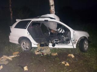 Фото: пресс-служба УГИБДД УМВД России по Приморскому краю | Автомобиль Toyota Caldina съехал с дороги: погибли два человека