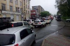 Дорога с Эгершельда в центр Владивостока заблокирована