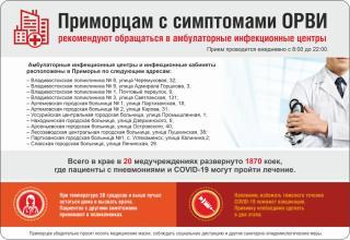 Фото: PRIMPRESS | Приморцам напомнили, куда можно обратиться с симптомами ОРВИ (инфографика)