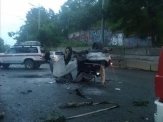 Фото: 25.мвд.рф   Злостный нарушитель ПДД устроил жесткое ДТП во Владивостоке