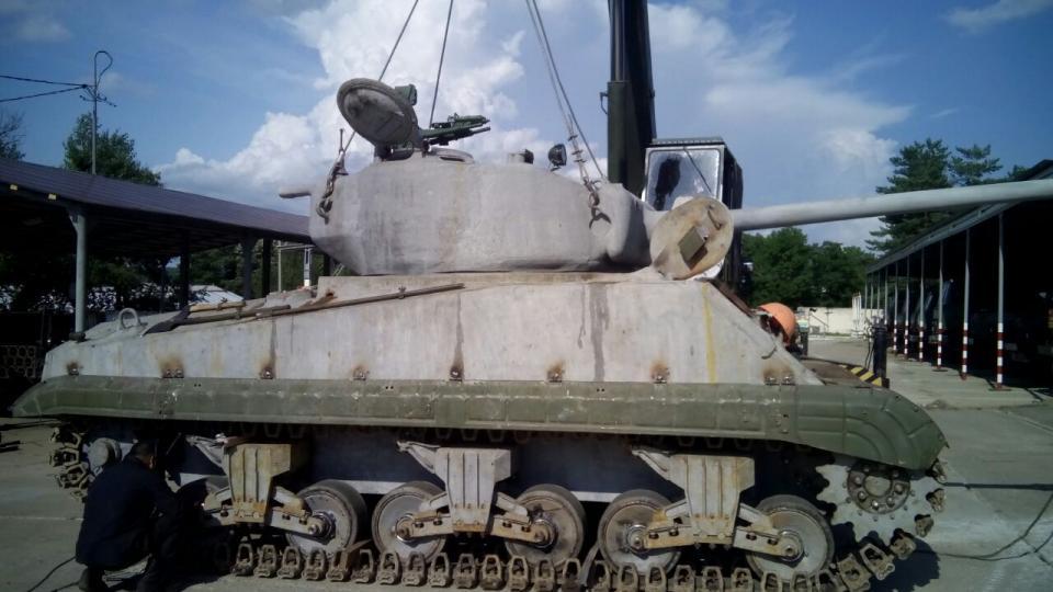 ВПриморье отреставрировали американский танк «Шерман»