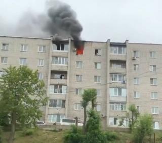 Фото: скриншот artem.news.plus   Во время пожара в Артеме спасено 10 человек