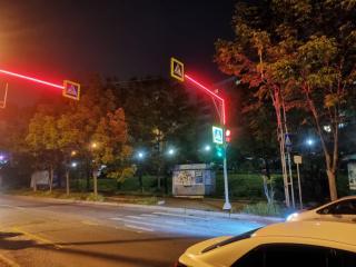 Фото: МУП «Содержание городских территорий» | Во Владивостоке светодиодными лентами оборудуют 68 светофоров