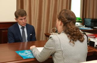 Фото: primorsky.ru | Губернатор Приморья встретился с уполномоченным при президенте России по правам ребенка