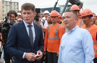 Фото: primorsky.ru | Губернатор Приморья осмотрел транспортно-логистический центр «Сухой Порт»
