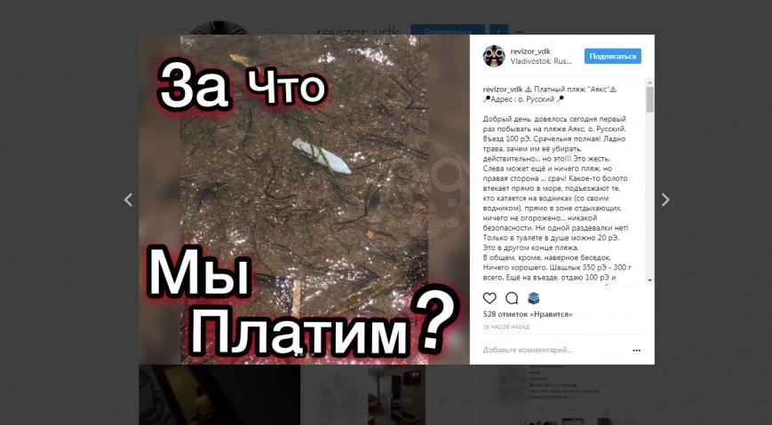 Отвратительная находка на платном пляже разозлила жительницу Владивостока
