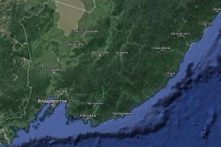 Фото: карта Google   «Не выходите на улицу»: синоптики сказали, что будет в Приморье 28-29 июля