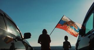 Фото: скриншот видео   #WewillROCyou. Автомобилисты Владивостока поддержали российских олимпийцев