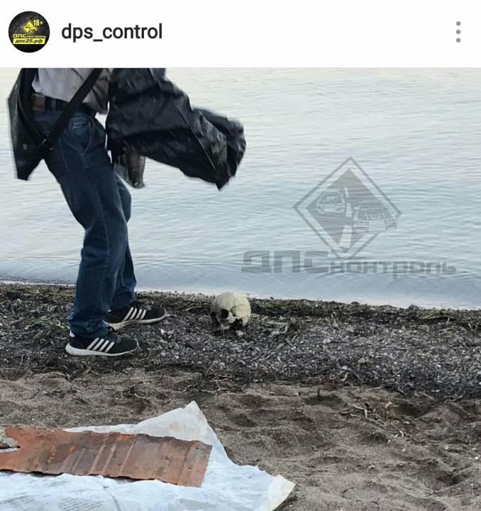 На береге вПриморье отыскали человеческий череп