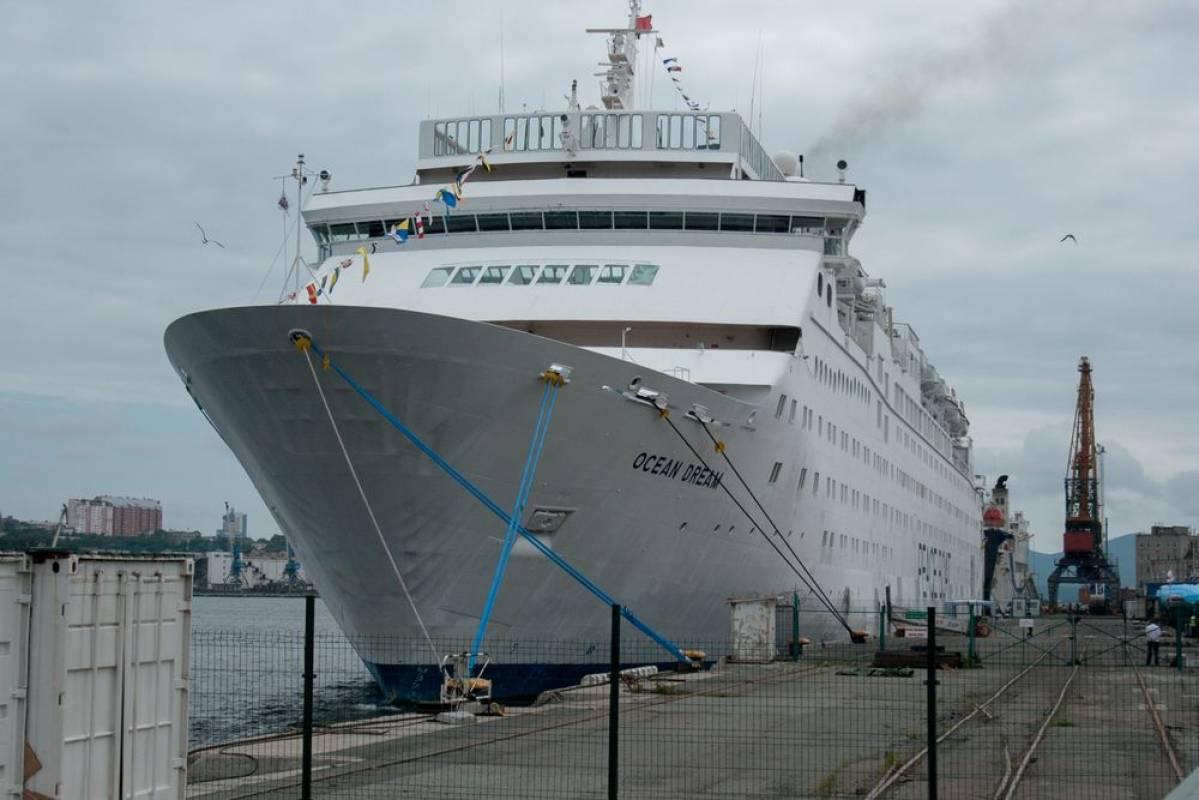 Во Владивосток прибыл круизный лайнер Ocean Dream