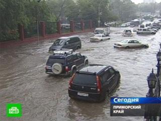 Фото: кадр телеканала НТВ | Такого мощного ливня еще не было: что ждет Владивосток 8 августа