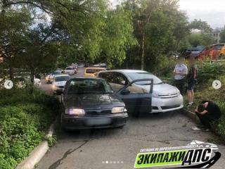 Фото: скриншот dps_vl | Пьяные подростки устроили ДТП во Владивостоке