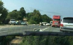 Федеральная трасса в Приморье перекрыта из-за «очень страшного ДТП»