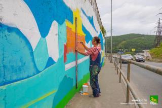 Фото: Анастасия Котлярова | Во Владивостоке появилось новое художественное панно