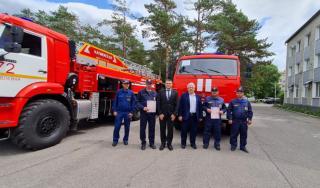 Фото: министерство по делам ГОЧС Приморского края   В Приморье закупили новые пожарные КамАЗы