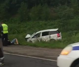 Фото: скриншот dps.control | В Приморье виновник страшного ДТП погиб на месте автоаварии