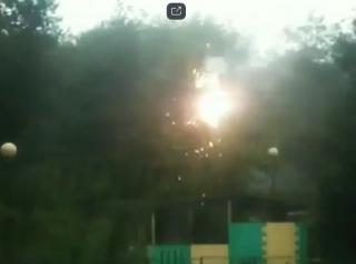 Фото: скриншот dps_vl | Во Владивостоке в детском саду оборвало провода на линии электропередачи