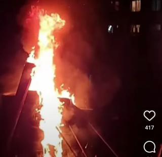 Фото: @artem.news.plus | «Нечем дышать»: приморцы зажгли традиционный костер возле жилых домов