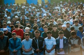 Фото: Семен Апасов PRIMPRESS | Мусульмане Владивостока празднуют Курбан-байрам (фото)