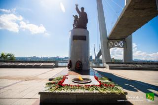 Фото: Анастасия Котлярова/vlc.ru | Во Владивостоке прошли памятные мероприятия, посвященные 76-летию со дня окончания Второй мировой войны