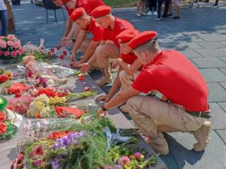 Фото: предоставлены муниципалитетами Приморья   Приморские юнармейцы приняли участие в торжественном митинге