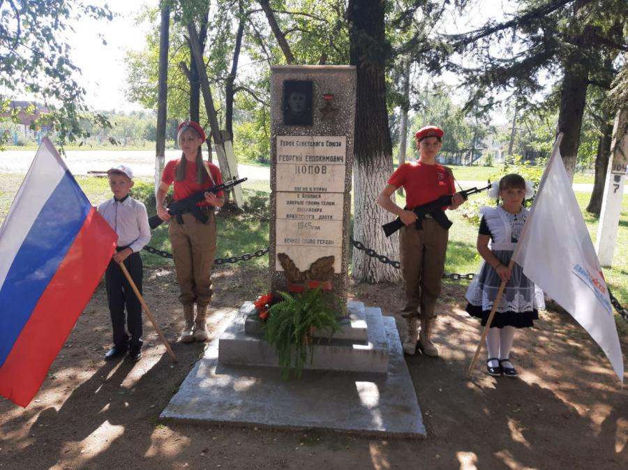 В Новогеоргиевке открыли мемориальную доску в память о герое Второй мировой войны