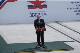 Владимир Путин заложил секции первых судов в  ТОР «Большой Камень»