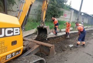 Фото: МБУ «Содержание городских территорий»   Дорожная служба ремонтирует дороги на трех улицах Владивостока