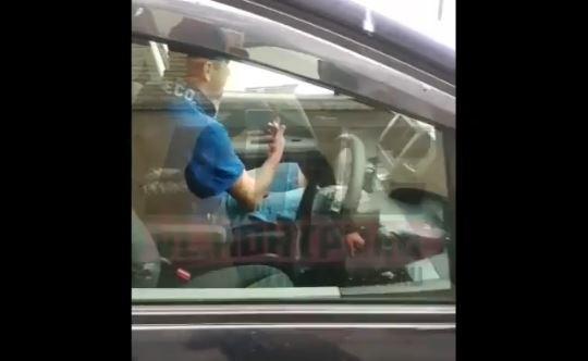 «Пьяное чучело» задержали своими силами приморцы на федеральной трассе